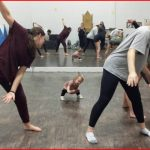toddler is leading the dance classes